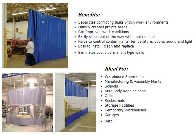 Custom Curtain Partitions